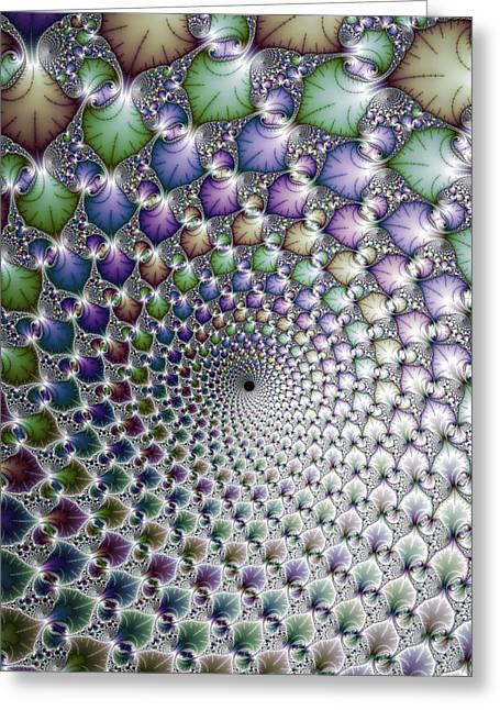 Hypnotising Colorful Vortex Spiral Greeting Card by Matthias Hauser