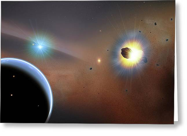 Hypothetical Beta Pictoris Planet Greeting Card by Goddard Space Flight Center/f. Reddy