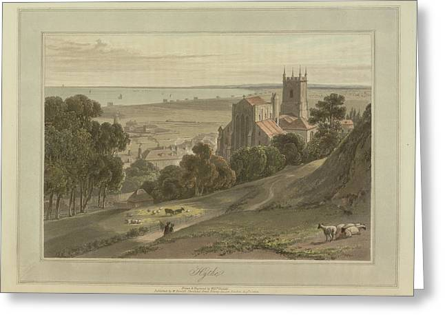 Hythe Coastal Landscape Greeting Card by British Library