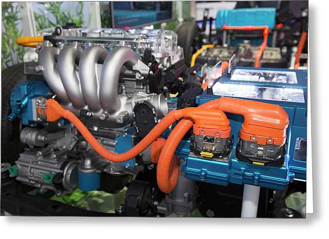 Hyundai Sonata Plug-in Hybrid Car Engine Greeting Card