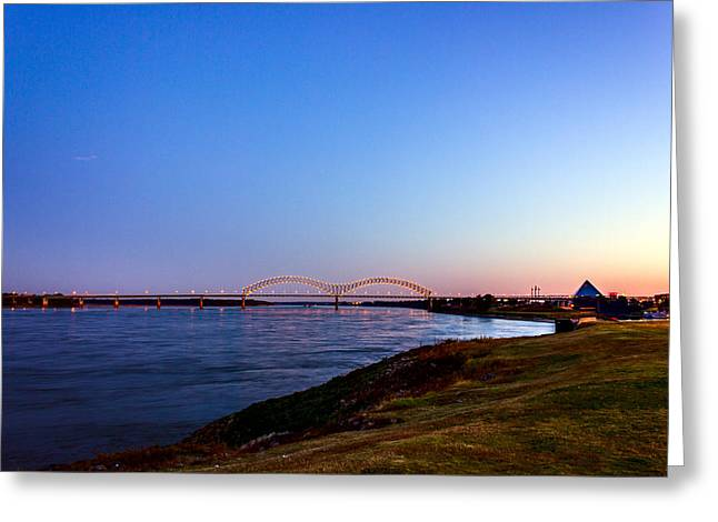 I-40 Bridge Across The Mighty Mississippi - Memphis - Tn Greeting Card by Barry Jones