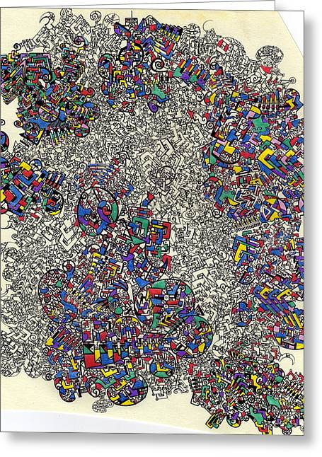 I Am Beginning To See A Pattern Greeting Card by Davivid Rose