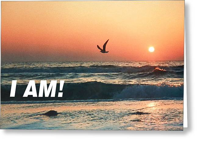 The Great I Am  Greeting Card