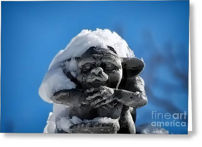 I Am Cold Greeting Card by Alexandra Jordankova