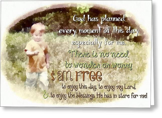 I Am Free Greeting Card