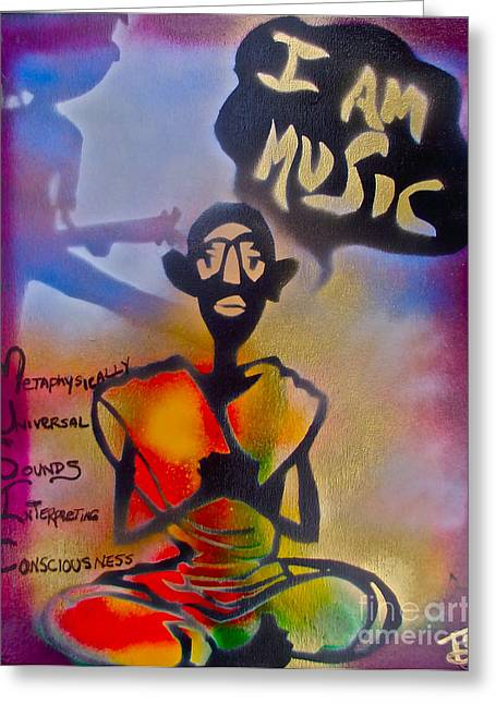I Am Music #1 Greeting Card by Tony B Conscious