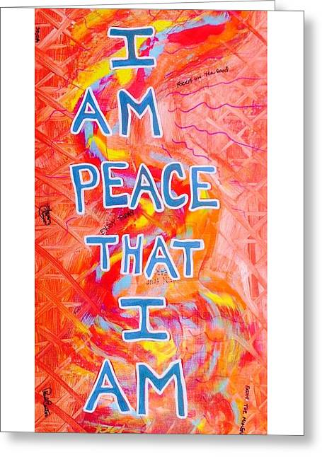 I Am Peace Greeting Card
