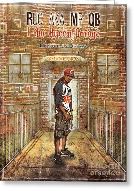 I Am Queensbridge Greeting Card by Tuan HollaBack