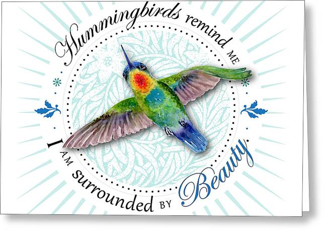 I Am Surrounded By Beauty Greeting Card by Amy Kirkpatrick