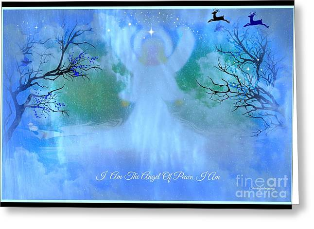 I Am The Angel Of Peace I Am Greeting Card by Sherri's Of Palm Springs