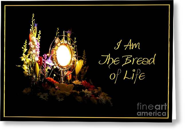 I Am The Bread Of Life Greeting Card by Rose Santuci-Sofranko