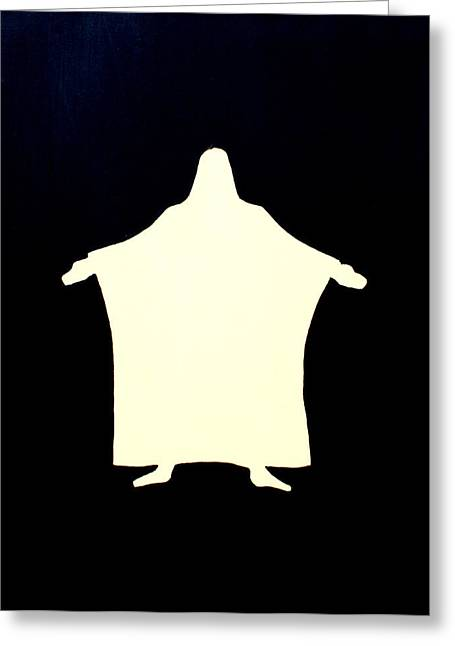 I Am The Door  Greeting Card by Sandra Yegiazaryan