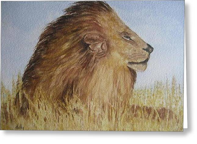 I Am The King Greeting Card by Kelly Mills