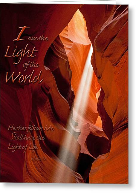 I Am The Light Of The World Greeting Card