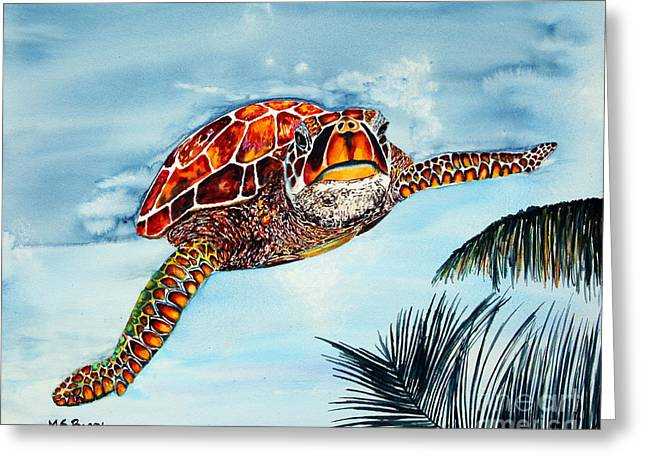 I Beleive I Can Fly Greeting Card by Maria Barry