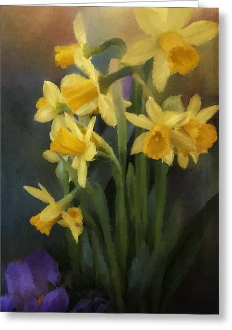 I Believe - Flower Art Greeting Card by Jordan Blackstone