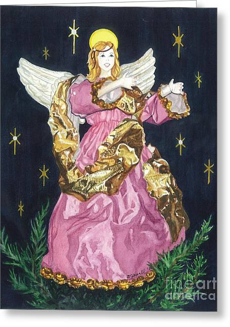 I Believe In Angels Greeting Card by Barbara Jewell