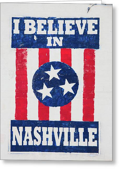 I Believe In Nashville, Sign, Downtown Greeting Card