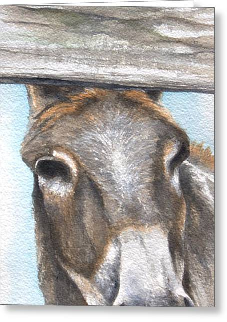 I Can't Hear You Greeting Card by Kimberly Shinn