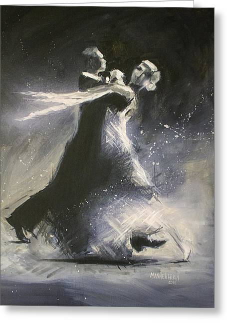 I Could Have Danced All Night Greeting Card by Melissa Herrin