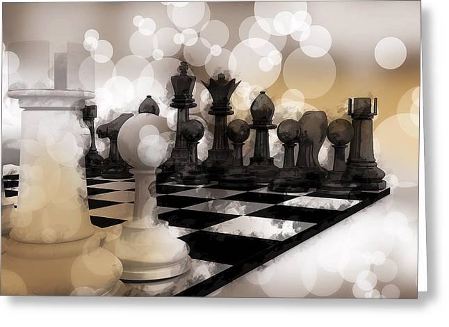 I Dream Of Chess ... Greeting Card by Daniel Hagerman