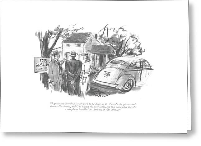I Grant You There's A Lot Of Work To Be Done Greeting Card by Perry Barlow