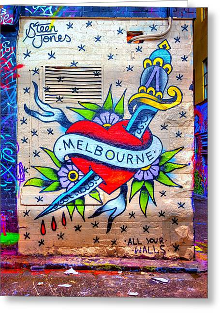 I Heart Melbourne Greeting Card by Paradigm Blue
