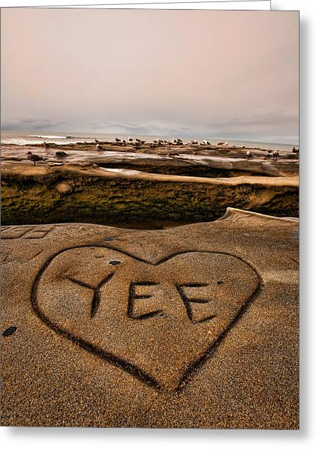 I Heart Yee Greeting Card by Peter Tellone