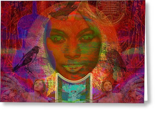 Solar Eyes Greeting Card