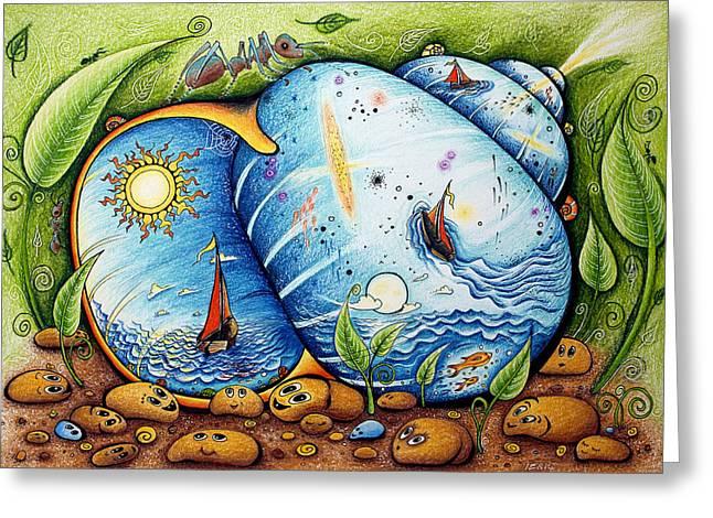 I Like Universe Greeting Card by Ida  Novotna