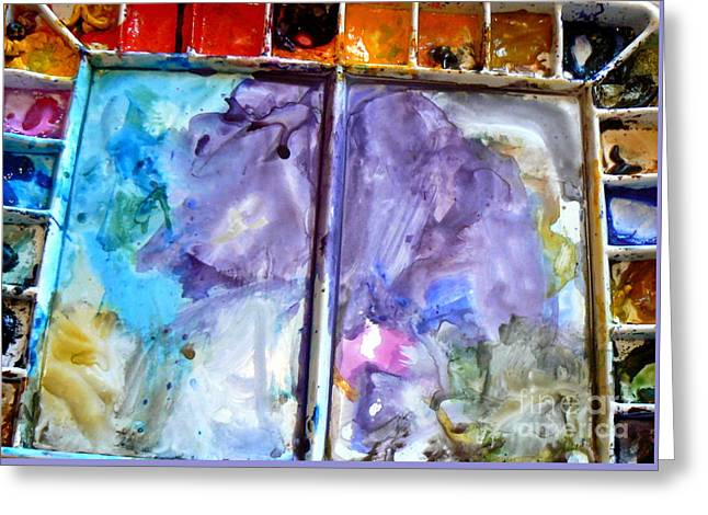 To Live In A Box Of Paints.. Greeting Card