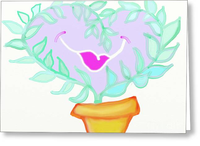 I Love A Flower Greeting Card by Lea S