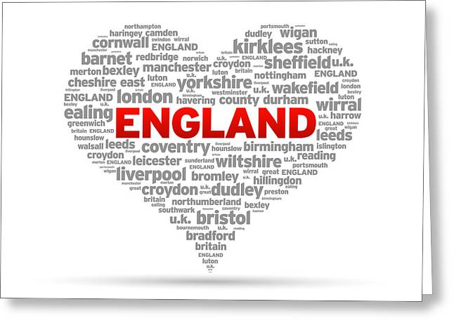 I Love England Greeting Card by Aged Pixel
