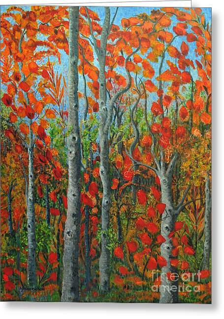 I Love Fall Greeting Card by Holly Carmichael