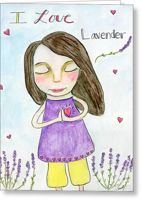 I Love Lavender Greeting Card