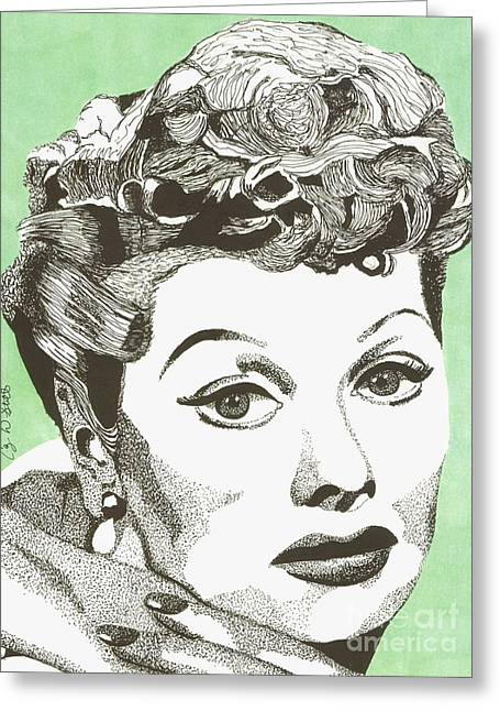 I Love Lucy Greeting Card by Cory Still