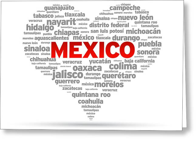 I Love Mexico Greeting Card by Aged Pixel