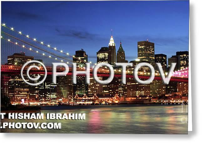 I Love New York -  Limited Edition Greeting Card by Hisham Ibrahim