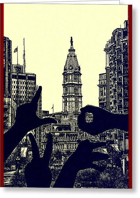 I Love Philly Greeting Card by Bill Cannon