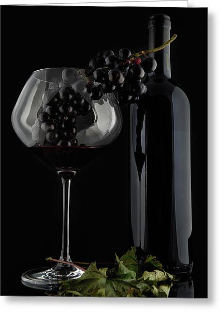 I Love Wine ! V Greeting Card by Alessandro Fabiano