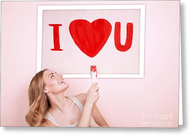 I Love You Greeting Card by Anna Om