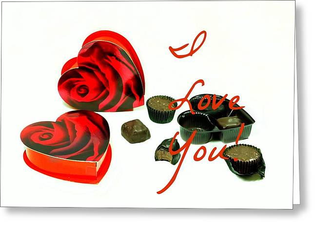 I Love You Greeting Card by Diana Angstadt