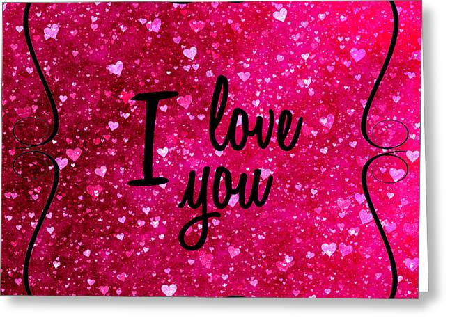 I love u greeting cards page 5 of 6 fine art america i love you in pink greeting card m4hsunfo