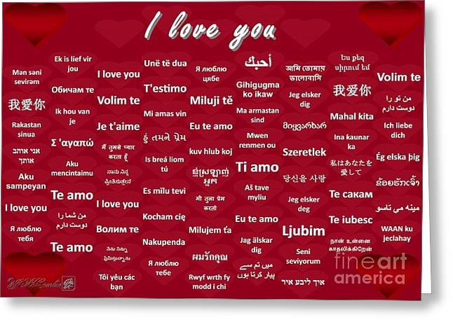 I Love You Greeting Card by J McCombie