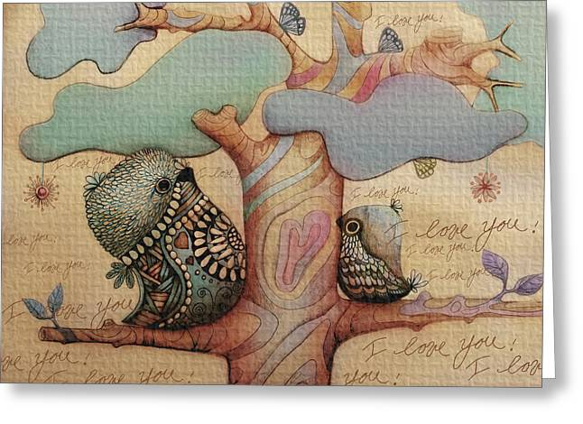 I Love You Greeting Card by Karin Taylor
