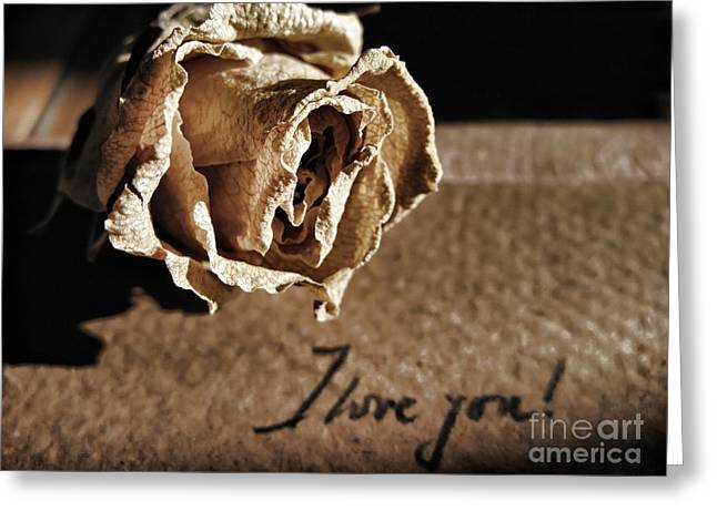 I Love You Letter Greeting Card