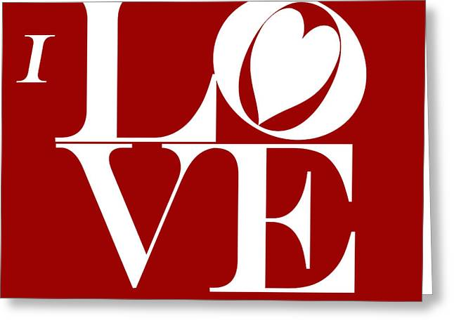 I Love You Greeting Card by Mariola Bitner