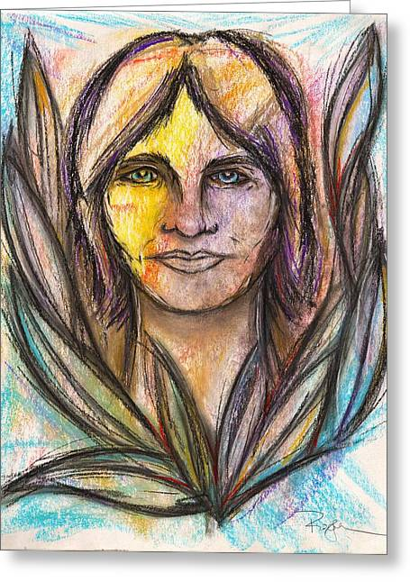 I Met My Spirit Today - Elyon Greeting Card by Roger Hanson