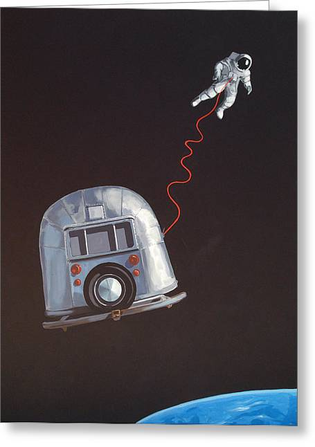 I Need Space Greeting Card by Jeffrey Bess