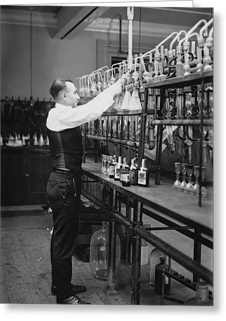 I R S Prohibition Test Lab  1920 Greeting Card by Daniel Hagerman